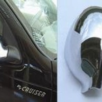 Chrysler PT Cruiser Accessories: Chrome Mirror Covers, (Non-Folding) - Fits the 2004-2005