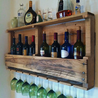 Rustic Wine Rack Reclaimed Wood Handmade Primitive Barnwood April ONE WEEK SPECIAL 79 Dollars Was 109 Dollars