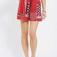 Pins And Needles Patchwork Zip-Front Skirt