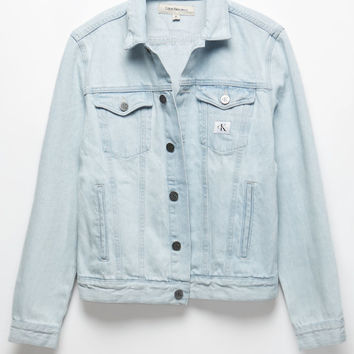 Calvin Klein Denim Ice Blue Trucker Jacket at PacSun.com