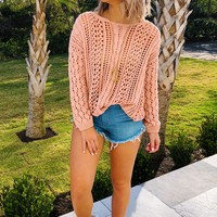 Cool Breeze Sweater: Soft Pink
