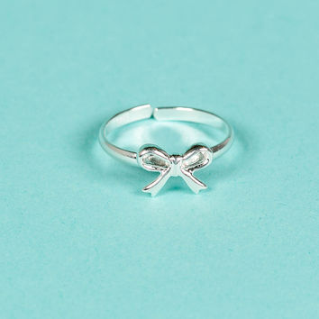 100% Silver Sterling Ribbon Ring