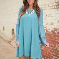 Meet Juliet Dress, Teal