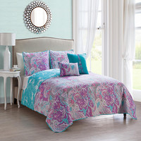 Victoria Avra 4 Piece Quilt Set Multi