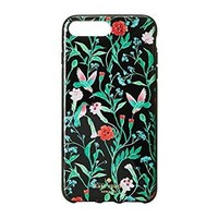 Kate Spade New York Women's Jeweled Jardin Phone Case for iPhone 7 Plus Black Multi Cellphone Case