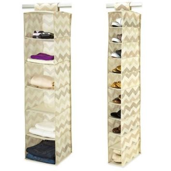 ClosetCandie Textured Chevron Shoe Organizer