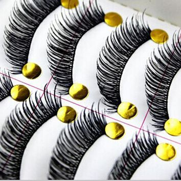 30Pairs Cotton Stalk Black Eye Lashes Long Thick False Eyelashes Fake Eye Lashes Maquillaje Eyelash Extension Tool False Lashes