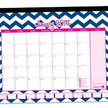 bloom daily planners 2015-16 Academic Year Desk Calendar (+) Desk Pad or Hanging Wall Calendar (+) FREE Vision Board (+) August 2015 - July 2016 (+) 16 x 21 Chevron
