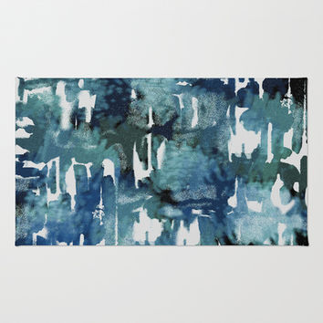 Mystic Cloud: Teal Area & Throw Rug by Eileen Paulino