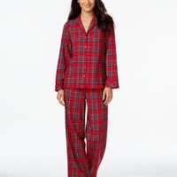 Charter Club Flannel Top and Pajama Pants Set, Only at Macy's | macys.com