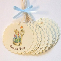 Peter Rabbit Thank You Tags - Baby Shower - Birthday Party