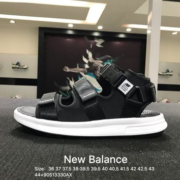 NB New Balance New Women Men's Black White ashion Casual Sandals