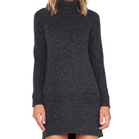 MILLY Heathered Pocket Dress in Charcoal
