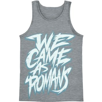 We Came As Romans Men's  Scratchy Text Mens Tank Grey Rockabilia