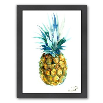 Framed Pineapple Painting Print Wall Art