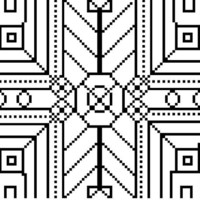 Cross Stitch Pattern Black & White
