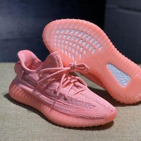 DCCK Adidas Yeezy Boost 350 V2 Pink Glow Sport Running Shoes - 36-46