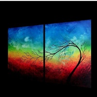 50% OFF WEEKEND SALE - Painted to Order Custom Original Tree Painting - A New Dawn by Jaime Best  - 20x32