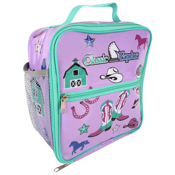 Classic Equine Kids Lunch Box in Purple