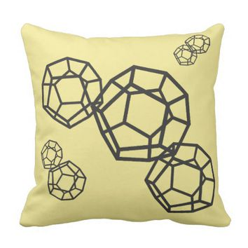 Stylish Magic Dodecahedrons Throw Pillow Cushion