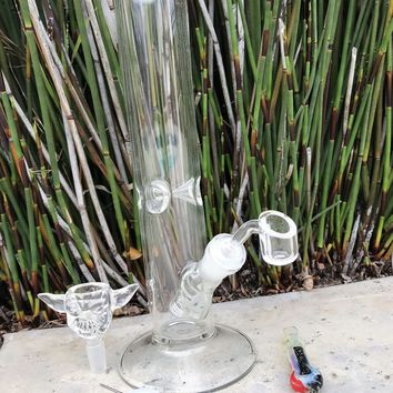 """Hookah Water Pipe Glass 12"""" Clear Yoda Bowl,DabRig,DabTool,Container,Chillum"""