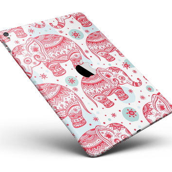 "Sacred Red Elephant and Polkadots Full Body Skin for the iPad Pro (12.9"" or 9.7"" available)"