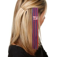 New York Giants Ladies Red-Royal Blue Sports Extension Hair Clips