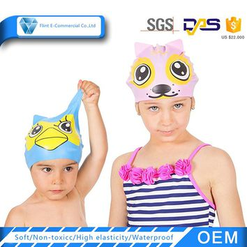 Funny Animal Silicone Swimming Cap for Kids