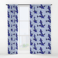 Astrological sign pisces constellation Window Curtains by savousepate