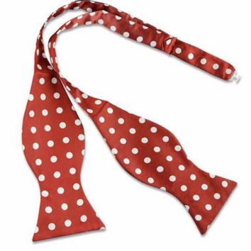 Mens Self Bow Tie Polka Dots,Men's gift Mens bowtie Wedding Bow ties for MenGroomsman gift groom wedding gift party PromBoyfriend gift Prom