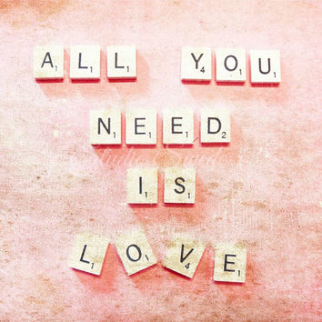 Romantic Photography, Word Photography, Scrabble Letters, Pink Art, Valentine Photography, Shabby Chic Art, Word Art, Message, Inspiration