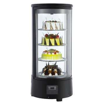 Commercial Refrigerated Countertop Rotating Bakery Display Case