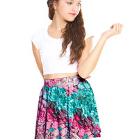 Girls Crushed Makeup Skater Skirt