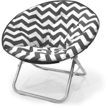 Walmart: Mainstays Plush Chevron Saucer Chair, Multiple Colors