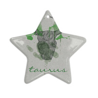"Belinda Gillies ""Taurus"" Ceramic Star Ornament"