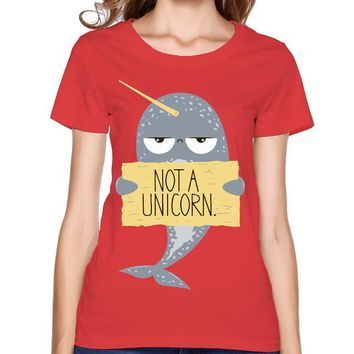 Narwhal Not A Unicorn Red T-Shirt