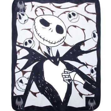 The Nightmare Before Christmas Jack Skellington Comfy Throw