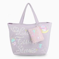 Little Twin Stars Tote Bag & Pouch: Lunar Trail