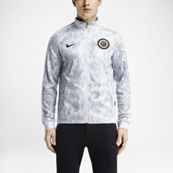 Nike F.C. N98 Allover Print GFX Men's Track Jacket Size Large (White)