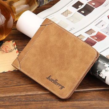 Male Famous Brand Men PU Leather Wallet Mens Short Wallets Purses Multifunctional Billfold Card Holders