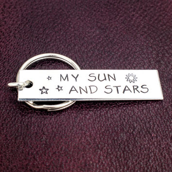 My Sun and Stars - Aluminum Key Chain