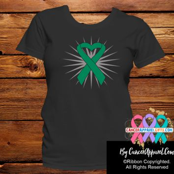 Liver Cancer Awareness Heart Ribbon Shirts