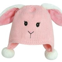 Stephan Baby 113130 Baby Hat-Bunnie-Pink Knit - Fits 6-12 Months