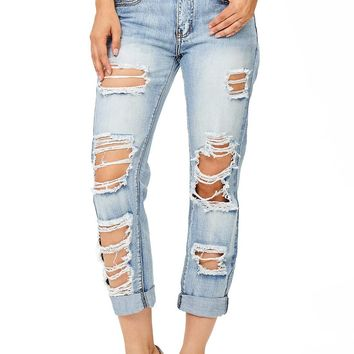 Jagged Notes Girlfriend Jeans