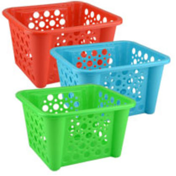 "Plastic Stacking ""Dots"" Storage Baskets at Deals"