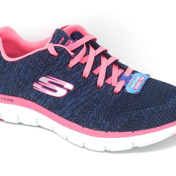 Skechers Navy & Hot Pink Flex Appeal 2.0 - High Energy Shoes