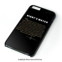 Game Of Thrones Night'S Watch Design Design for iPhone and iPod Touch Case
