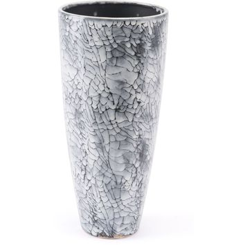 Black & White Marbled Vase, Small