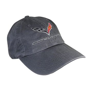C7 Corvette Logo - Premium Garment Washed Cap/Hat