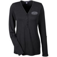 The Ultimate Fan Of The New England Patriots Ladies' Henley Knit Top